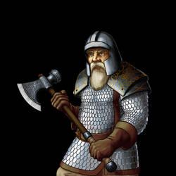 Wesnoth - Dwarf Fighter