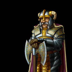 Wesnoth - Dwarf Lord