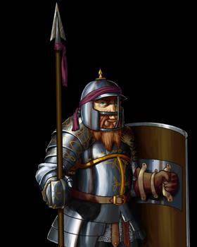 Wesnoth - Dwarf Sentinel