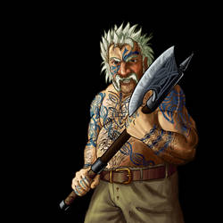 Wesnoth - Dwarf Berserker