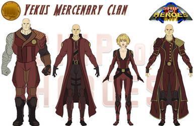 Yekus Mercenary Model Sheets