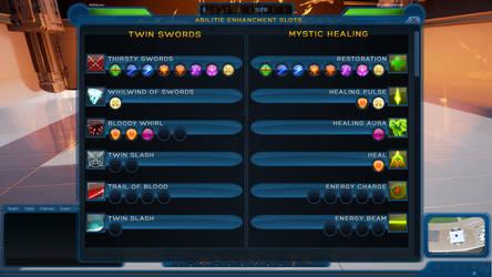 Ship of Heroes Enhancment Slots UI