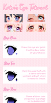 Anime Eyes Tutorial by Katie-chu