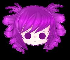 Kokona Chibi Head. by EliKitsune