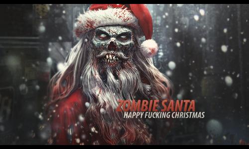 Christmas Zombie Wallpaper.Zombie Santa By Last Samarian On Deviantart