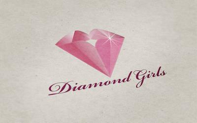 Diamond Girls Logo Mockup by CPDigitalDarkroom