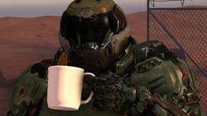 Doom marine with coffee [SFM]