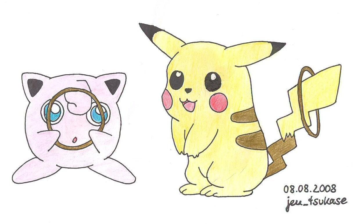 Pummeluff und Pikachu