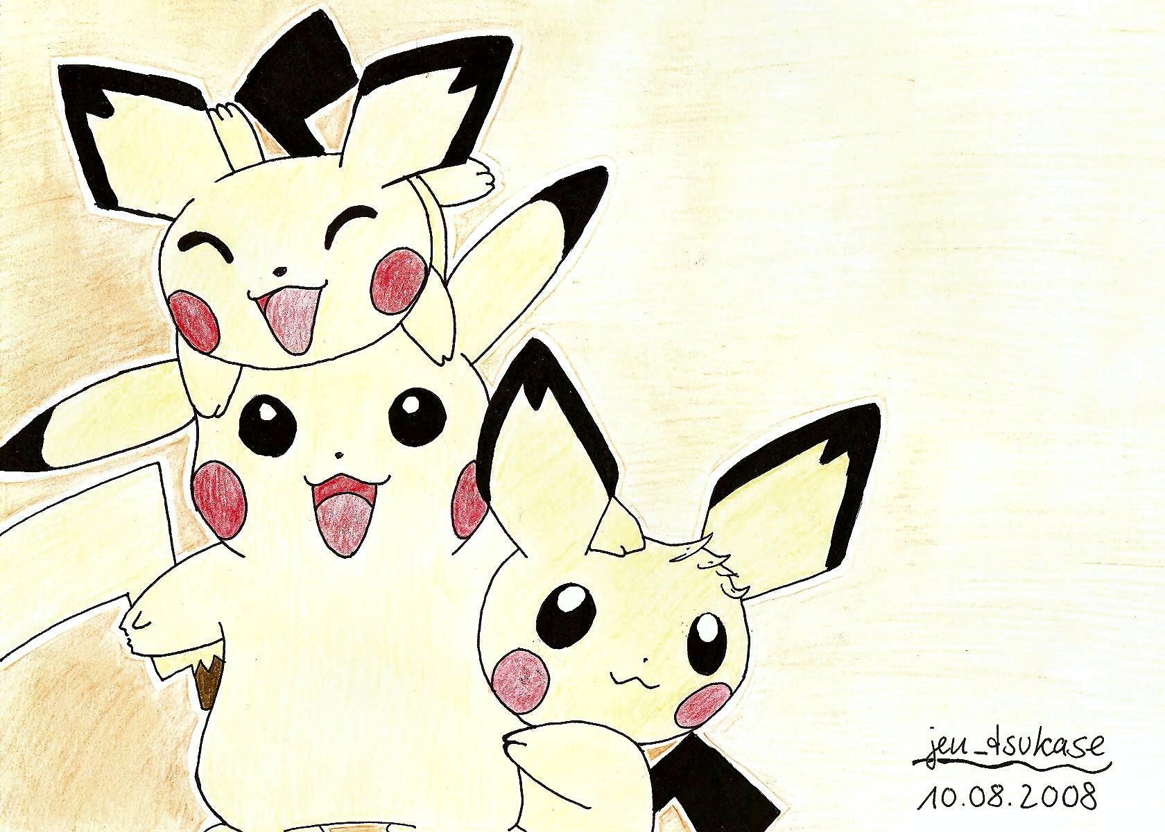 Pikachu and Pichu Brothers