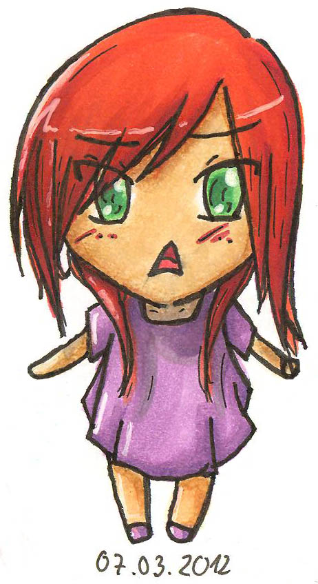 Chibi with red hair