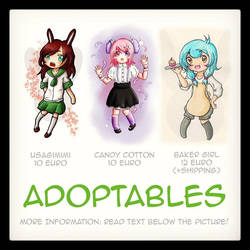 Adoptables~ [open] by jentsukase