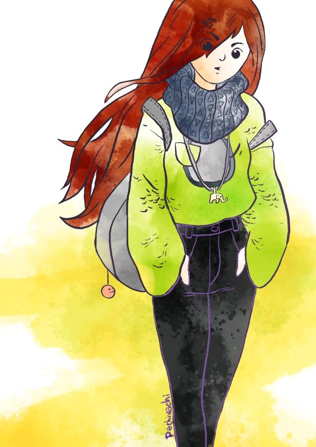 Girl sketch by 6vedik