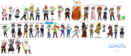 EVERY SINGLE POPTROPICA VILLAIN DRAWN OUT