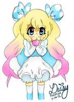 Kawaii Apple Girl by DaisyPhantom