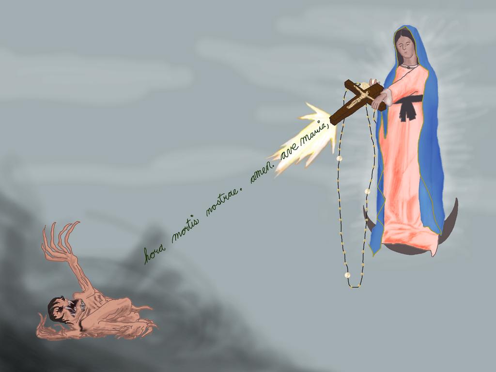 Machine-gun Mary by dragonsangel