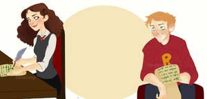 Ron and Hermione. by ElenaGiorgi