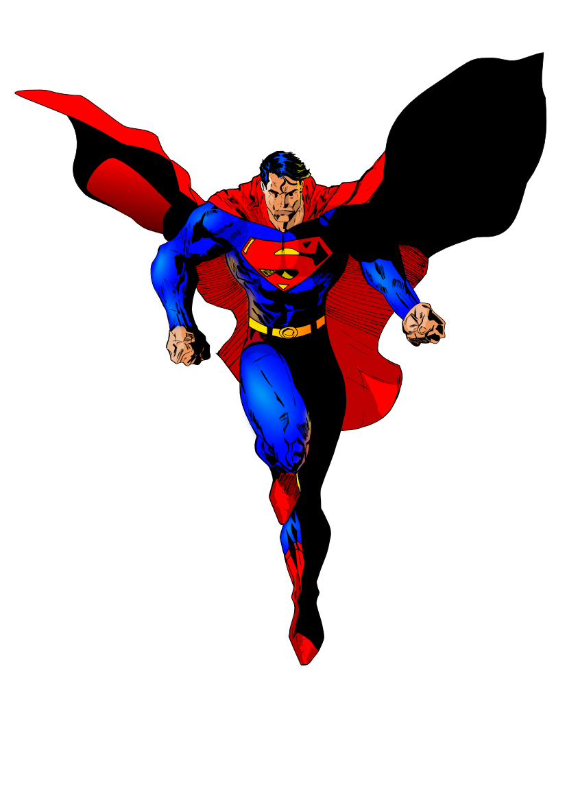 clipart superman flying - photo #27