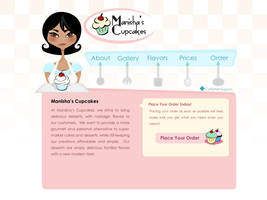 Manisha's Cupcakes Home Page by BlissInMyCoffee