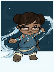 Me as a Chibi Water Bender