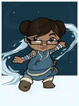 Me as a Chibi Water Bender by BlissInMyCoffee