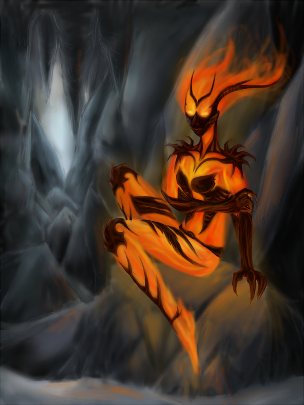 Skyrim: Flame Atronach by Kselena-Vonta