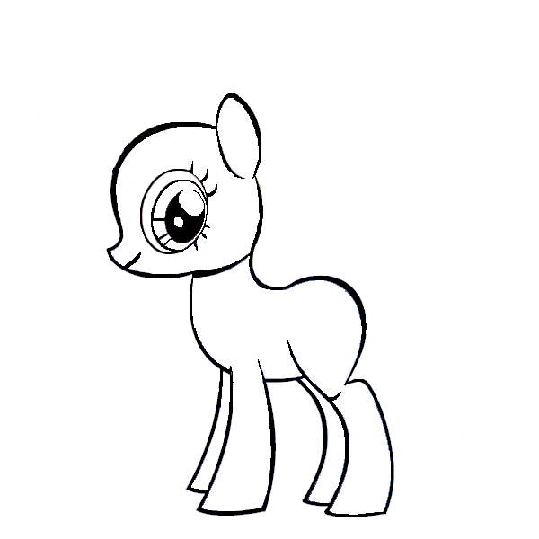 My little pony G4 template by BobcatAngel on DeviantArt