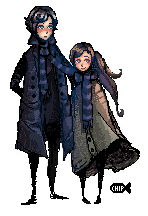 Sherlock and Molly Pixels by ChippyFish