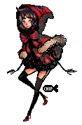 Red Riding Hood Pixel by ChippyFish