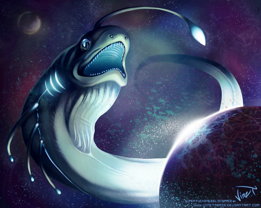 Super Fucking Eel in Space by VineTabris