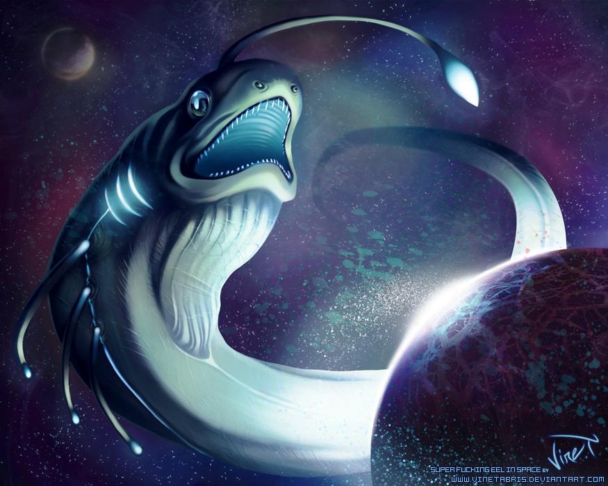 Super Fucking Eel in Space by VineTabris
