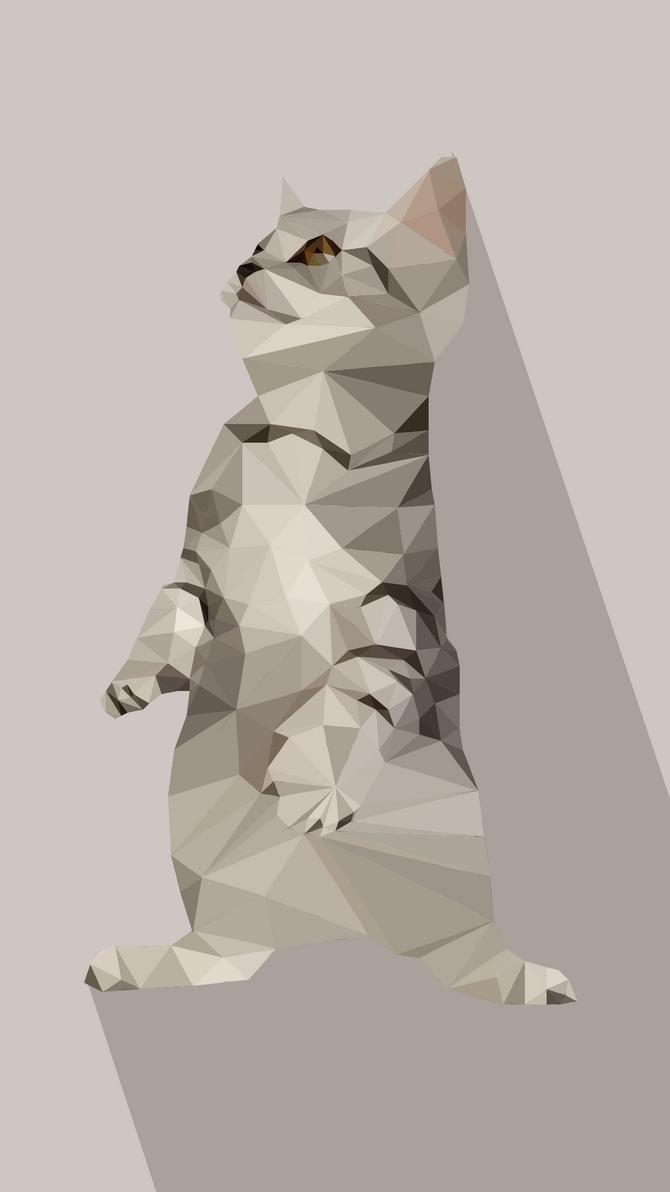Polygon cat by uniikat96 on DeviantArt