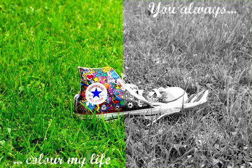 You always colour my life by sazjmiller