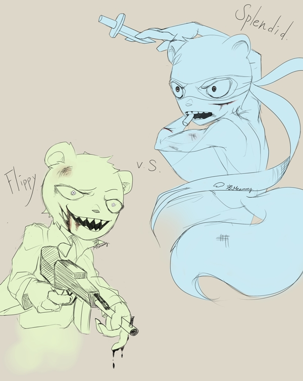 [Happy Tree Friends] Splendid and Flippy Doodle #4 by Meammy