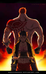 Luffy vs Katakuri    a true man by ZAIN-ART