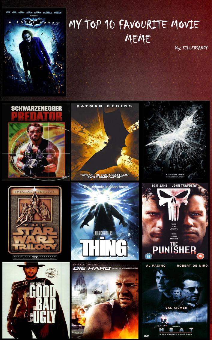 My top 10 favourite movie meme ...