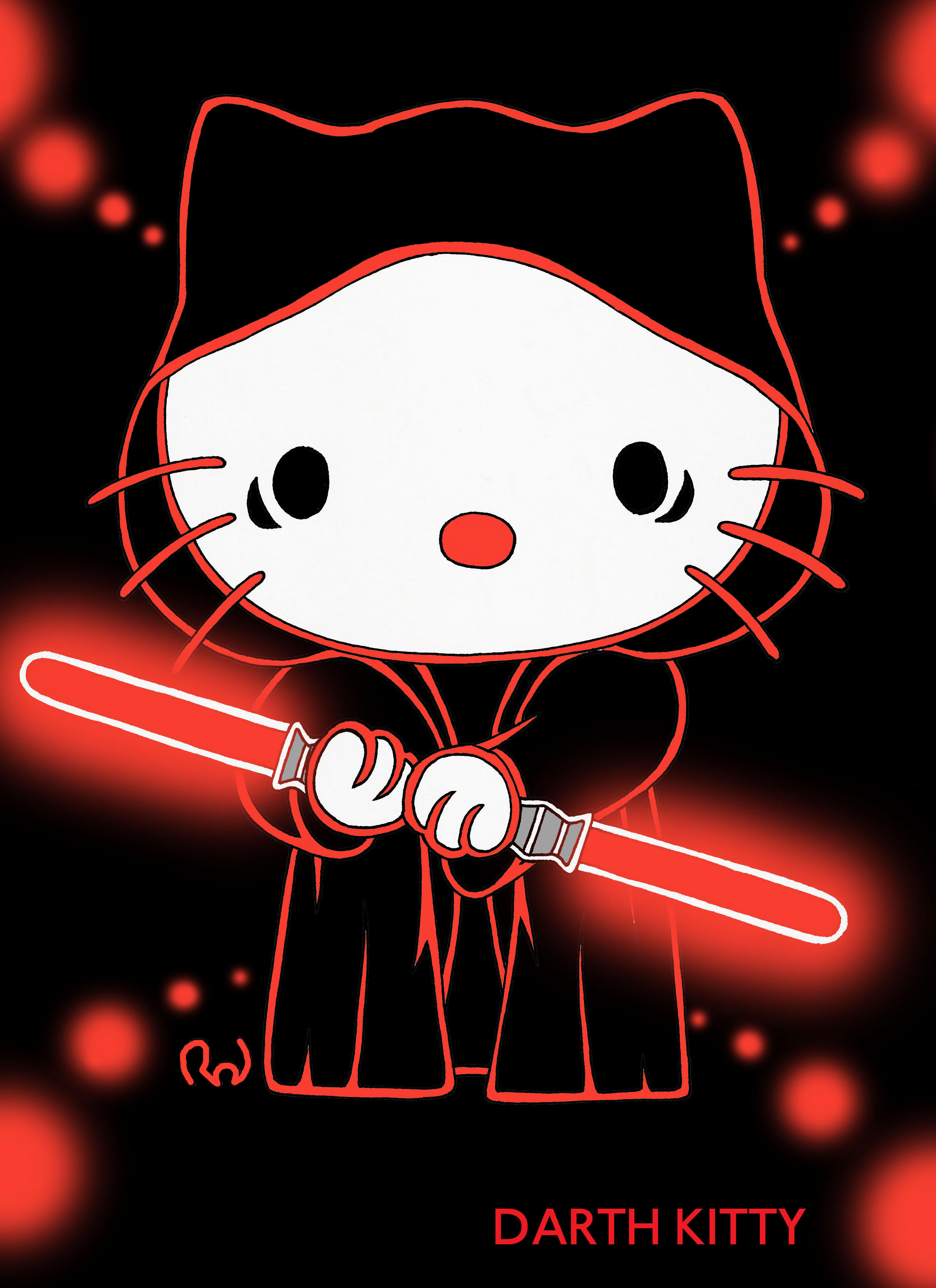Download Wallpaper Hello Kitty Neon - darth_kitty_by_hightower67  2018_647919.jpg