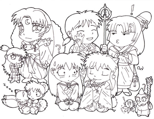 InuYasha coloring pages printable games | 464x600