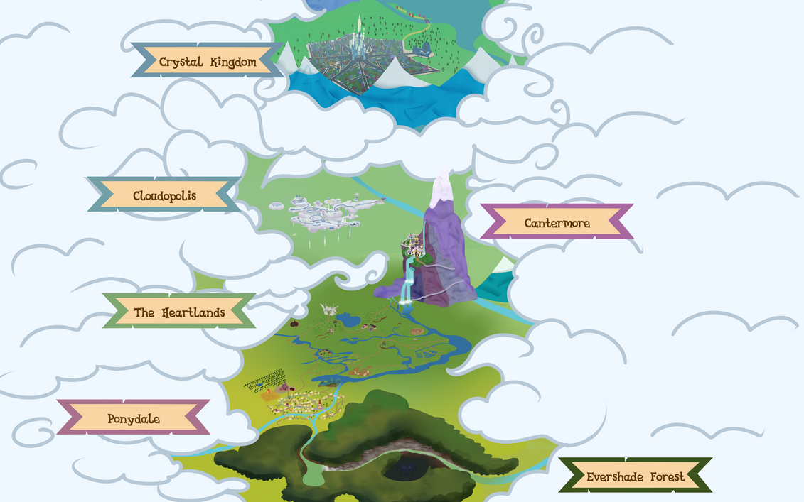 Legends of Equestria Map by Cyanspark