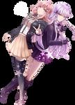 Chiaki and Kirigiri   Danganronpa   Render