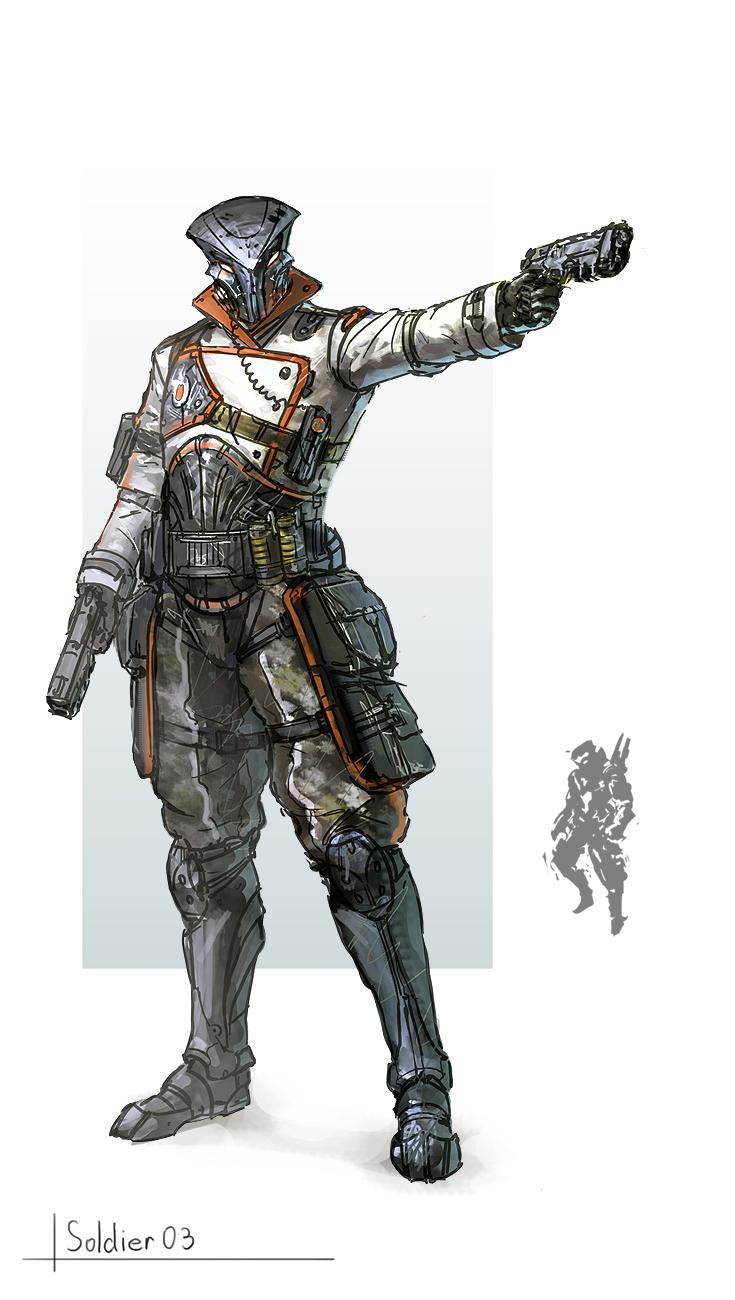 Alien officer concept ...