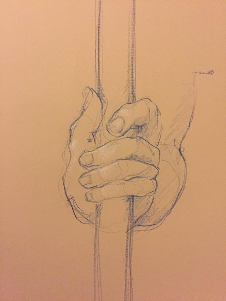 Hand study by nbrignol