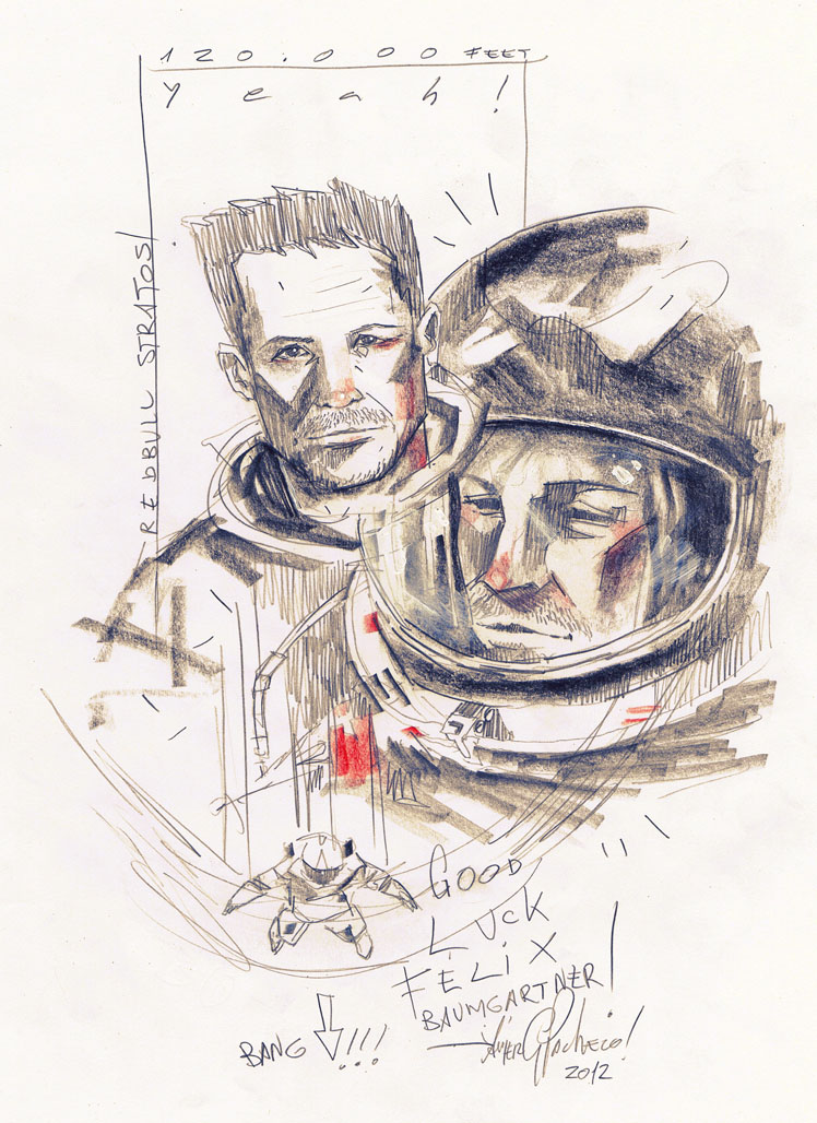 GOOD LUCK FELIX BAUMGARTNER by javierGpacheco