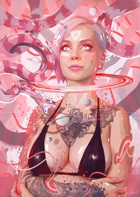 SARA X COSMOSNAKE by javierGpacheco