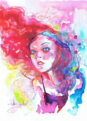 DELIRIUM WATERCOLOR by JAVIER G. PACHECO