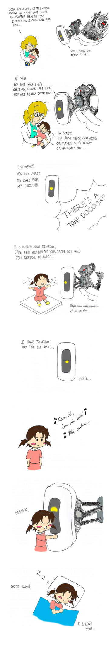 Headcanons: Portal (Caroline is Chell's Mother) by justastudent996
