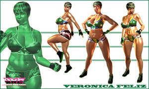 Veronica Feliz model display by Terry-P