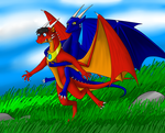 Dragon Glomp (commision)