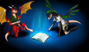 Dragons tf (art Trade) by Tomek1000