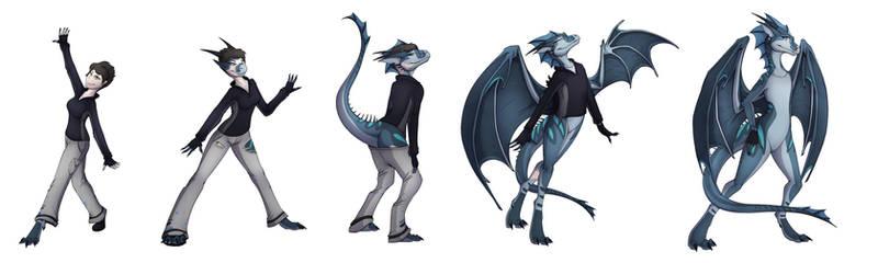 Dragon trick (commission) by Tomek1000
