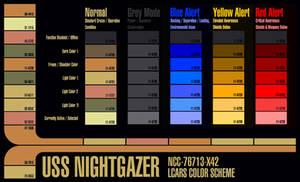 Star Trek = Project X42 LCARS colour scheme